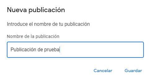 crear publicacion google noticias