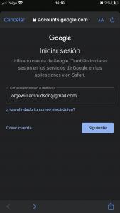 Iniciar sesión en Gmail iOS
